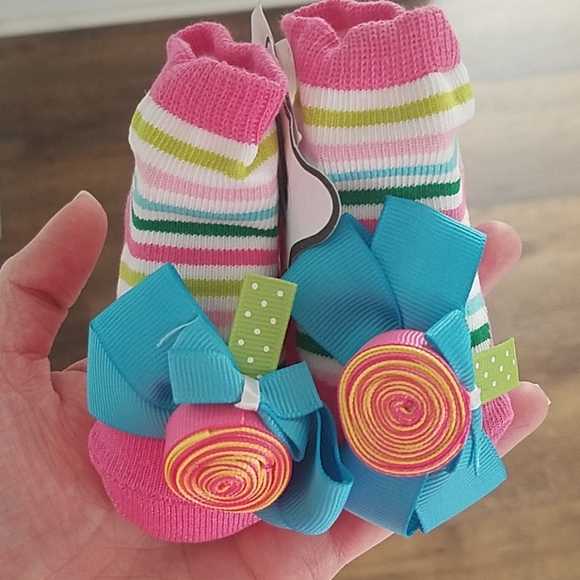Mud Pie Baby-Girls Newborn Girl Owl Sock
